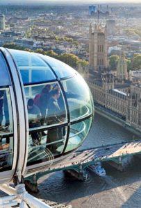 Eine Attraktion, die man nicht versäumen sollte: Das London Eye bietet auf 135 Metern Höhe einen atemberaubenden Blick über die Stadt. (© Top Magazin Frankfurt)
