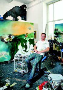 Wo gehobelt wird, fallen Späne. Und wo gemalt wird, sieht's so aus wie bei Hannes Michanek.