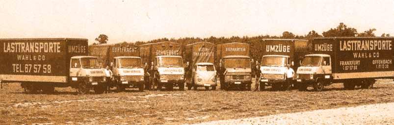 Seit 1966 sorgt die Firma Wahl für professionelle Umzüge. Das Frankfurter Unternehmen ist Mitglied im Bundesverband Möbelspedition und Logistik (AMÖ e.V.) und Ausbildungsbetrieb.