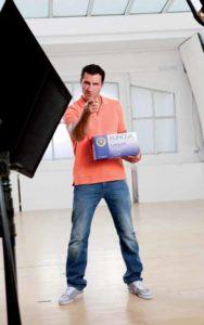 Wladimir Klitschko beim Shooting der neuen Kampagne für Eunova