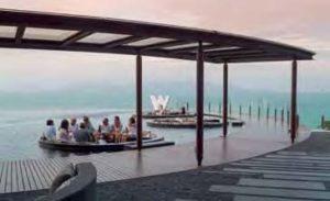 W für Wow! Die Bar des W Retreat Koh Samui mit Blick auf Koh Pangan
