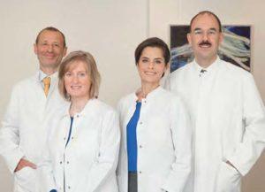 Das Kompetenz-Team vom Institut für Bildgebende Diagnostik: Dr. Stephan Zapf, Dr. Kirsten Holsteg, Dr. Catarina Jung und Prof. Dr. Michael K. Stehling