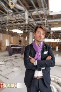 Er führt die Tradition von Möller & Schaar in Frankfurt weiter: Adam Schattschneider auf der Baustelle des neuen Stores in der Kaiserhofstraße