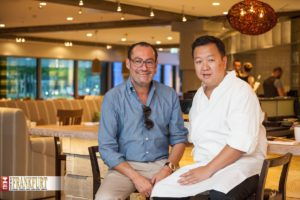 Die Partner des Moriki: Micky Rosen und der Star der Berliner Gastronomie-Szene Duc Ngo