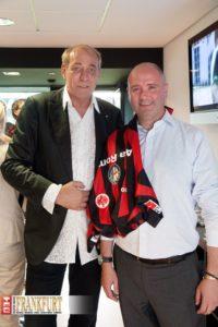 Eintracht-Präsident  Peter Fischer mit Fiat-Deutschland-Chef Eric Laforge