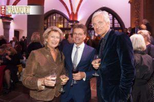 Ex-Oberbürgermeisterin Petra Roth, Alexander Skipis (Hauptgeschäftsführer des Börsenvereins des Deutschen Buchhandels) und Kulturdezernent Prof. Felix Semmelroth
