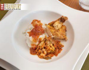 Motsi Mabuse Hühnchen mit Salsa, Chakalaka und Pap