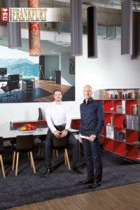 Andreas Reich und Tom H. Grebe im Massdrei Interior Showroom