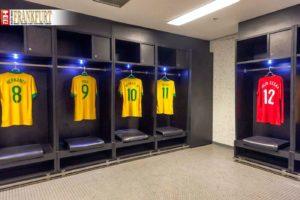 Die Kabine der Fußballstars im Maracanã Stadion