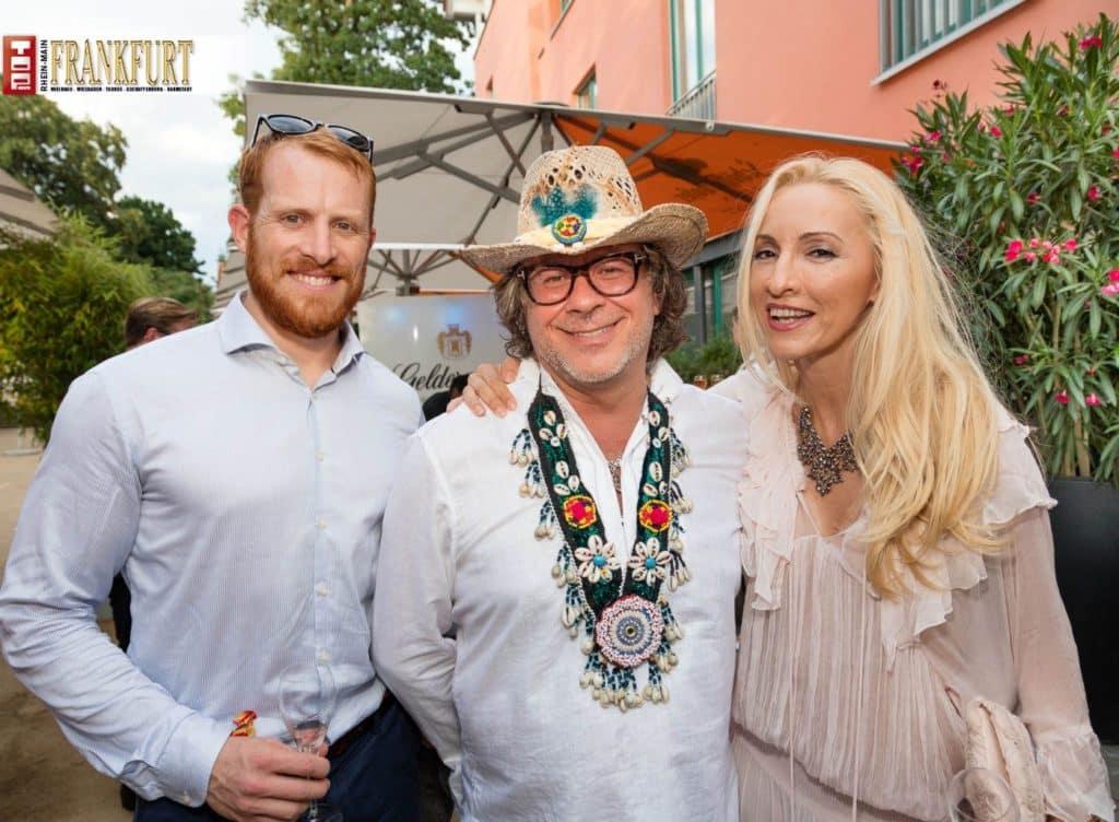 Uber-Chef Christopher Bates mit Ardi Goldman und Irena Brncic