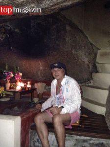 Ardi Goldman nutzt die Grotte des Resorts Chiva Som als meditativen Rückzugsort, Foto privat