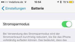 Der neue Stromsparmodus in iOS 9