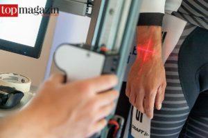 Im Radlabor von Tim Böhme werden Kunden und Räder vermessen.
