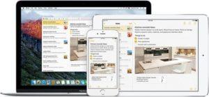 Notizen lassen sich mit iOS 9 aus fast jeder App erstellen und sind dank iCloud auf allen Geräten synchron.