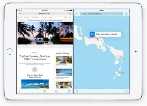 Split View - Neben der aktiven App lässt sich eine zweite anzeigen.