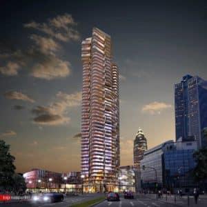 Der Tower 2 bei Nacht