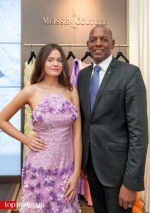 Lara Müller und Meissen Boutique-Manager Alvin F. Thomas
