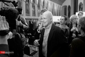 Buchpreisgewinner Frank Witzel beim Verlassen des Kaisersaals