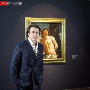 Federico Castelluccio vor dem von ihm entdeckten Guercino