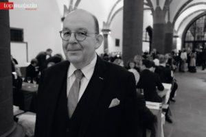 Literaturkritiker Denis Scheck auf der After-Show-Party des Deutschen Buchpreises