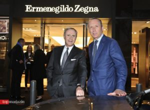 Maserati-Chef Harald Wester mit Zegna-CEO Gildo Zegna
