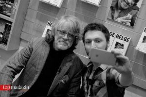 Selfie mit Komiker Helge Schneider