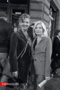 Tatort-Komissarinnen Margarete Broich und Sabine Postel vor der Bar Plank