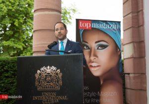 Top Magazin-Verleger Michael Ruiss bei seiner Begrüßungsansprache
