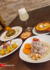 Ceviche und Pisco Sour im Restaurant Miraflores