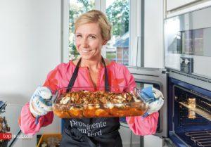 Auberginen-Parmigiana frisch aus dem Ofen