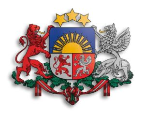 Das Wappen Lettlands