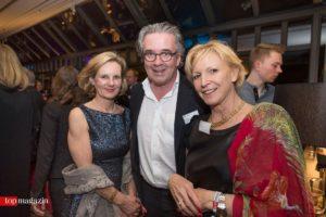 Petra Becker (International Art Bridge) mit Jens Spudy (Spudy Invest) und Barbara Brosius