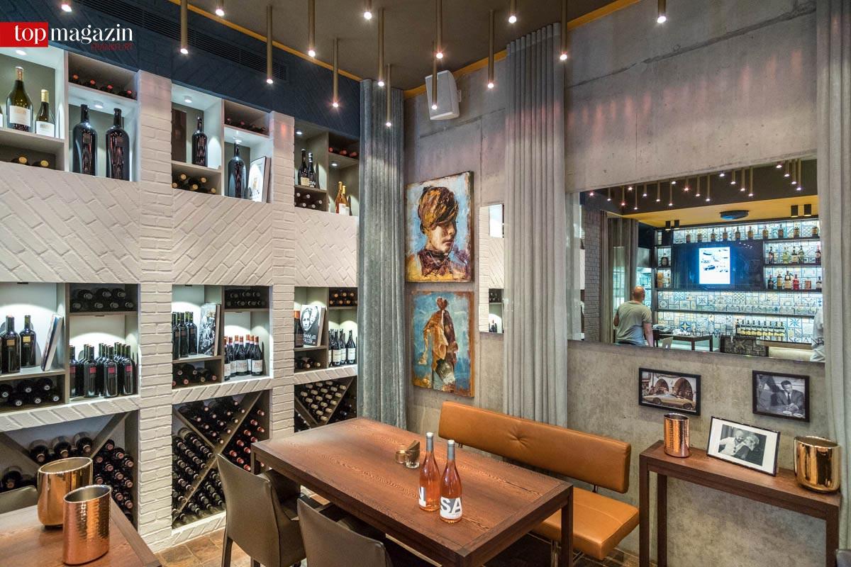 Kunst an den Wänden, Wein in den Regalen