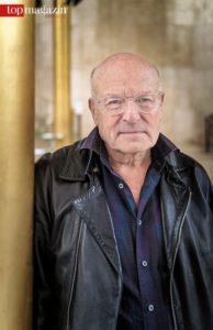 Volker Schlöndorff in der Goldhalle des hr-Sendesaals