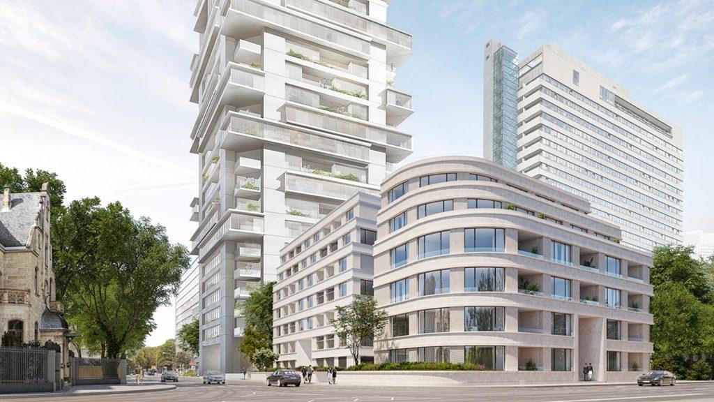 Das Gebäudeensemble Riverpark Suites wird mindestens über 34 von der Stadt geförderte Mietwohnungen verfügen