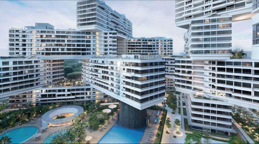 The Interlace in Singapur wurde 2013 als weltweit bestes Hochhausprojekt für städtischen Lebensraum ausgezeichnet.