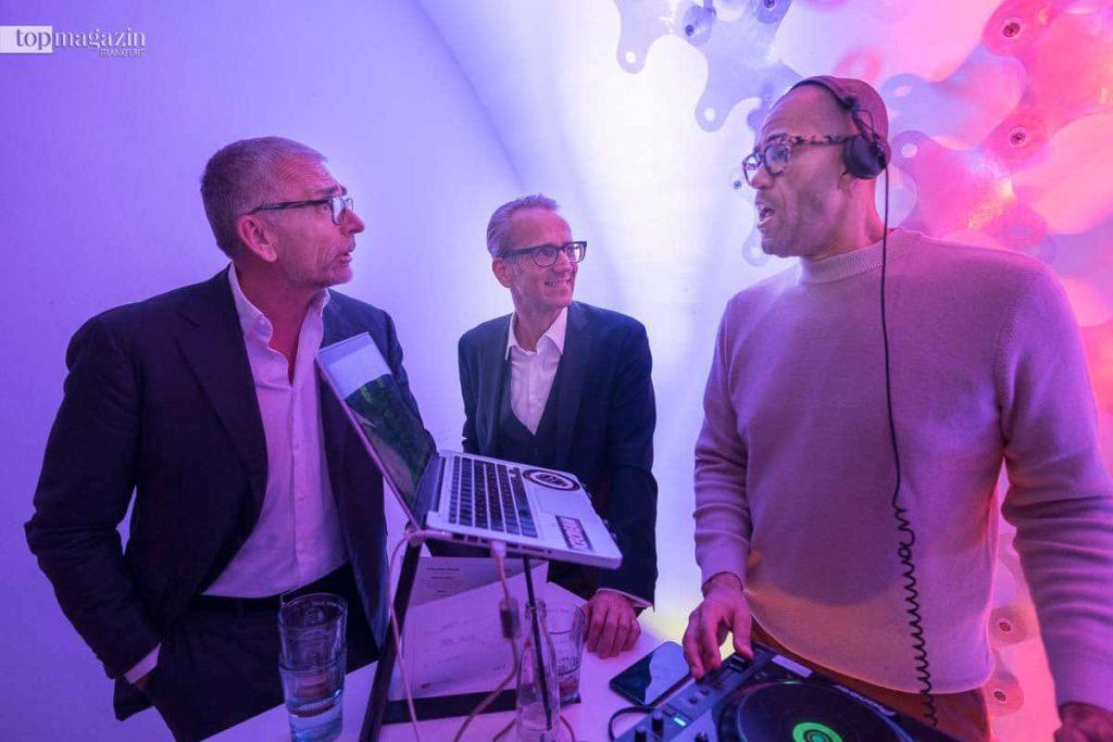 Soundcheck - Rainer M. Ballwanz (Ballwanz Immobilien) mit Oliver Rohloff (Mediengruppe Frankfurt) und DJ Julian Smith