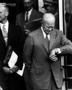Dwight D. Eisenhower - General der US-Truppen im Zweiten Weltkrieg, späterer US-Präsident und Erfinder des Eisenhower-Prinzips