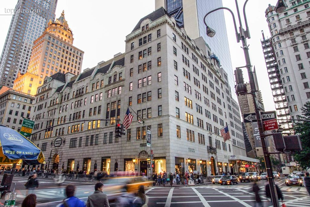Das Bergdorf Goodman an der 5th Avenue in New York