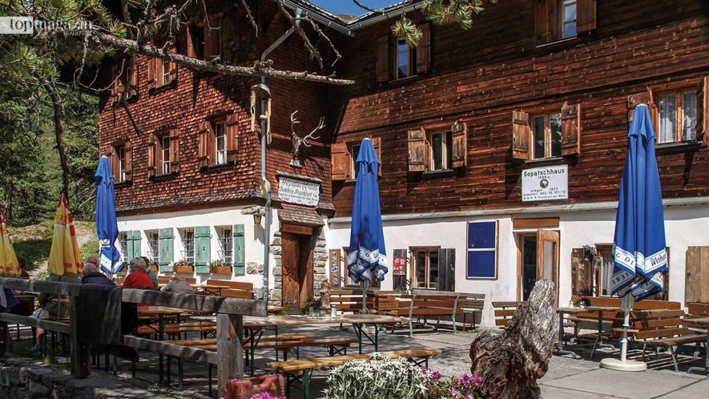 Das Gepatschhaus auf 1928 Metern Höhe, die erste deutsche Alpenvereinshütte in Österreich