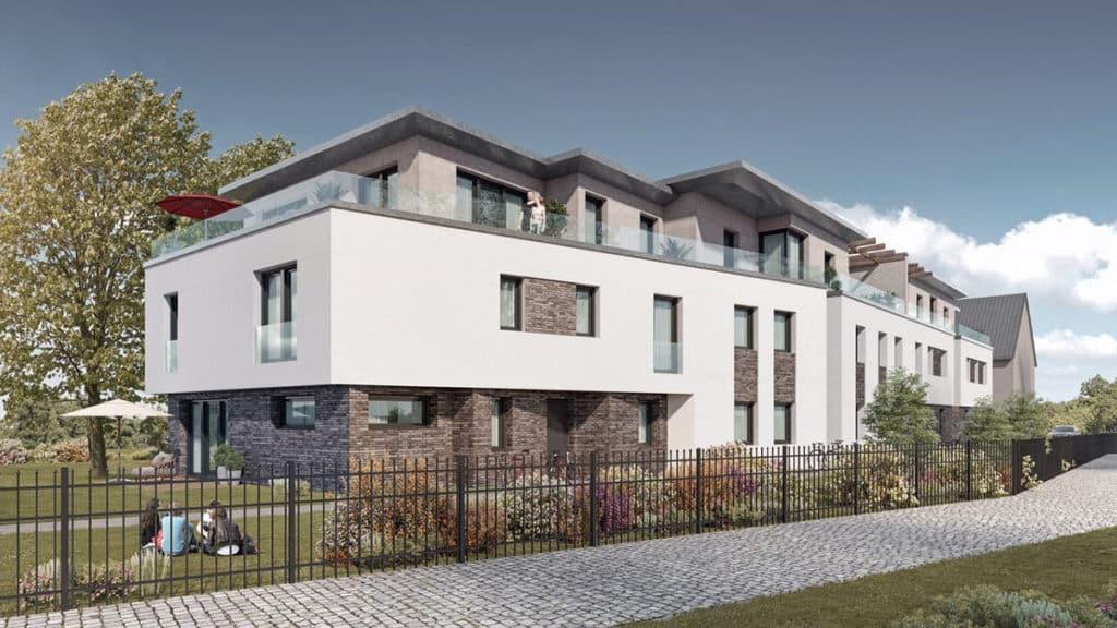 Das Neubauprojekt liegt am Bieberer Berg – fußläufig zum Leonhart-Eißnert-Park, zahlreichen Geschäften und Restaurants.
