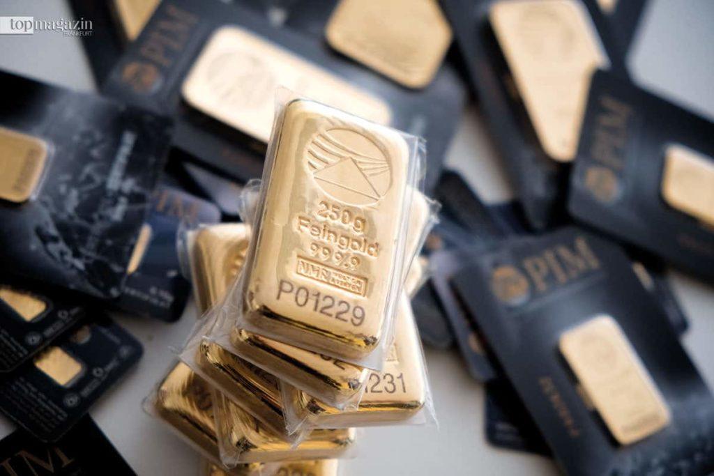 Goldbarren im 'Hessisch' Fort Knox'