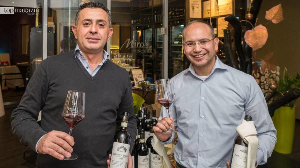 Gaspare Margiotta und Maurizio Ingala vom Weinhandel Capricano