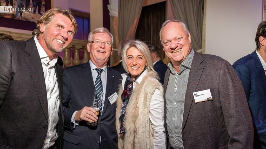 Kameha-Gründer Carsten K. Rath mit Prof. Klaus-Dieter Scheurle (DFS Deutsche Flugsicherung), Elisabeth und Rolf Töpperwien