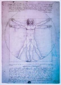 Der 'Vitruvianische Mensch' von da Vinci zählt zu den am häufigsten vervielfältigten Motiven der Welt.