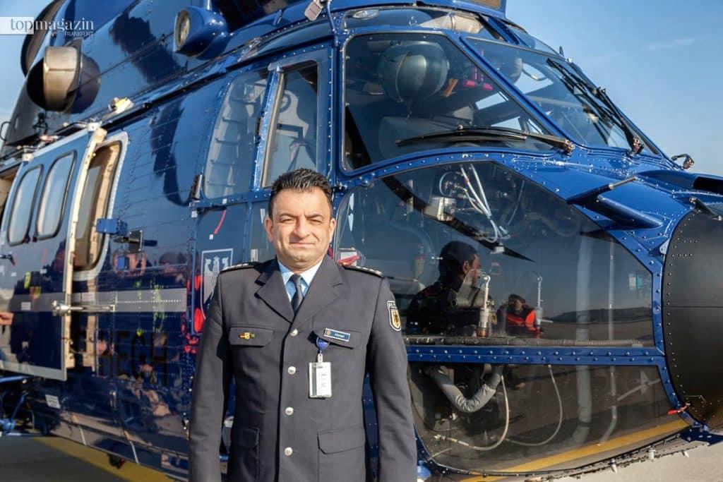 Reza Ahmari, Pressesprecher der Bundespolizei in Frankfurt