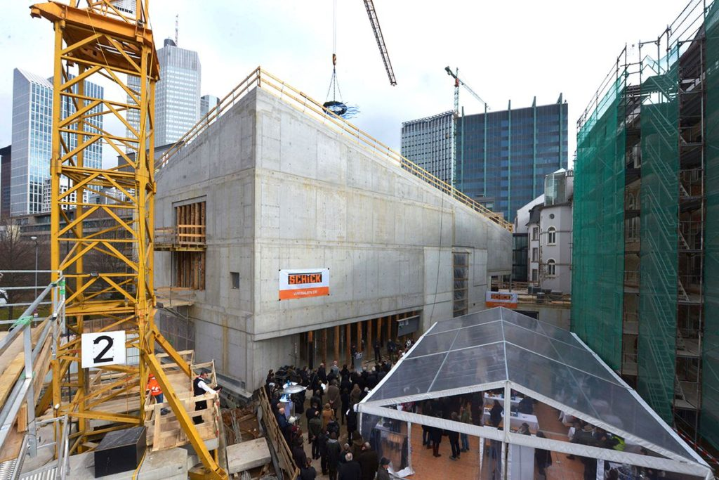 Der Rohbau des Neubaus des Jüdischen Museums (Foto Kammerer)