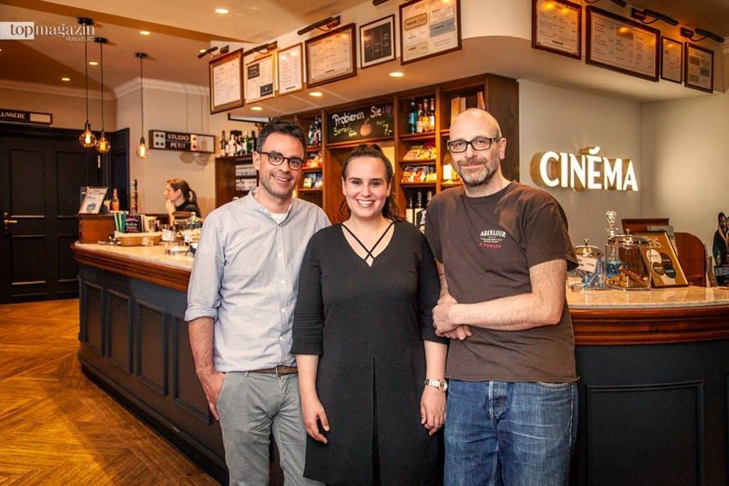 Christopher Bauscher, Andreas Tietze und Laura Zarantonello vom Cinéma am Roßmarkt