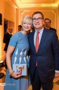 Die stellvertretende Vorsitzende von Unicef Deutschland und ehemalige Dressurreiterin Ann Kathrin Linsenhoff mit Ehemann Klaus-Martin Rath