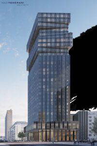 """Der Büro- und Hotelturm """"The Spin"""" von Groß & Partner"""